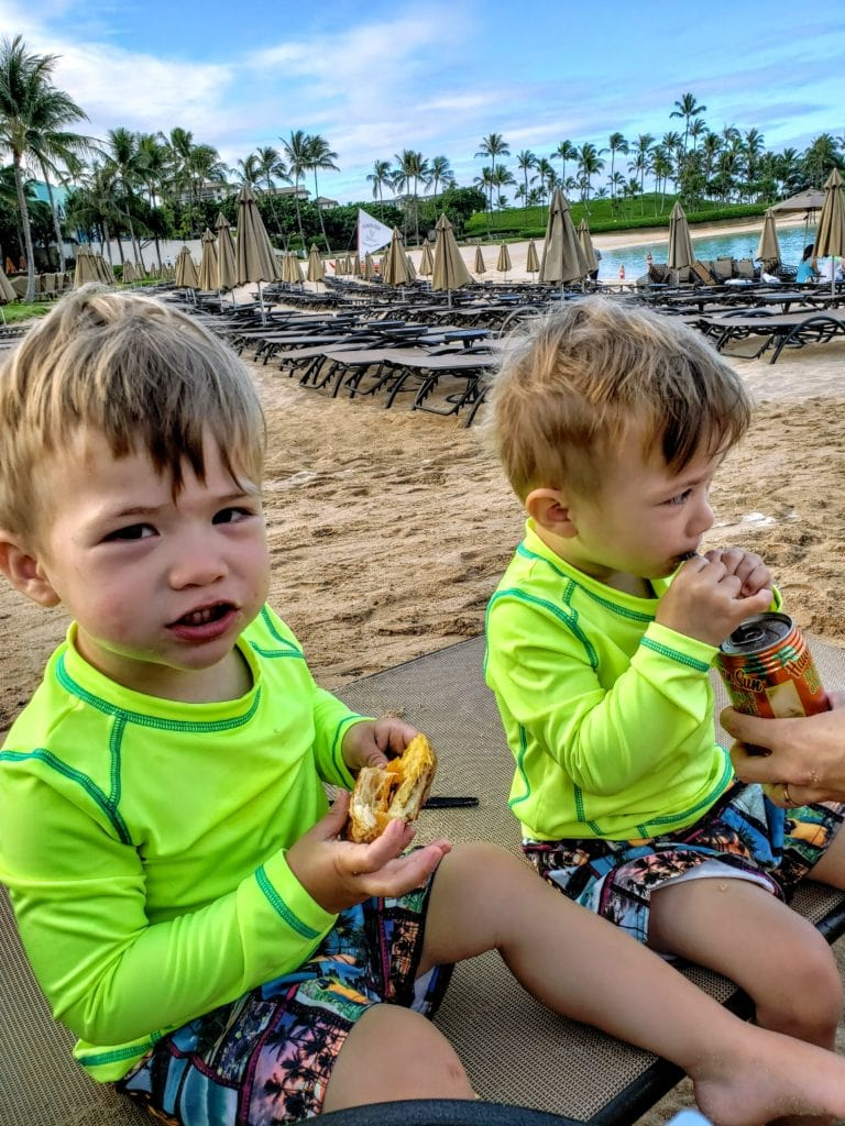 Aulani Beach - breakfast from Ulu Cafe