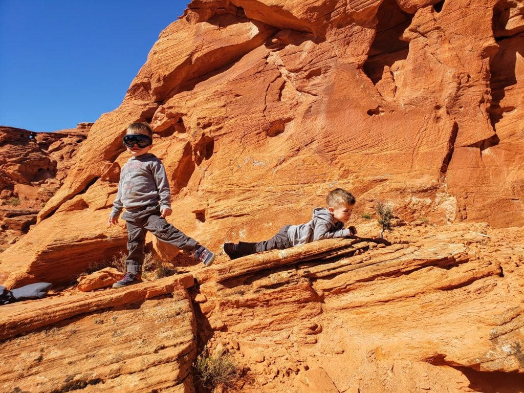 Sand Hollow State Park, Devil's playground. Taking a break on our UTV ride. The kids loved throwing sandstone 'rocks' that fall apart when they hit the ground