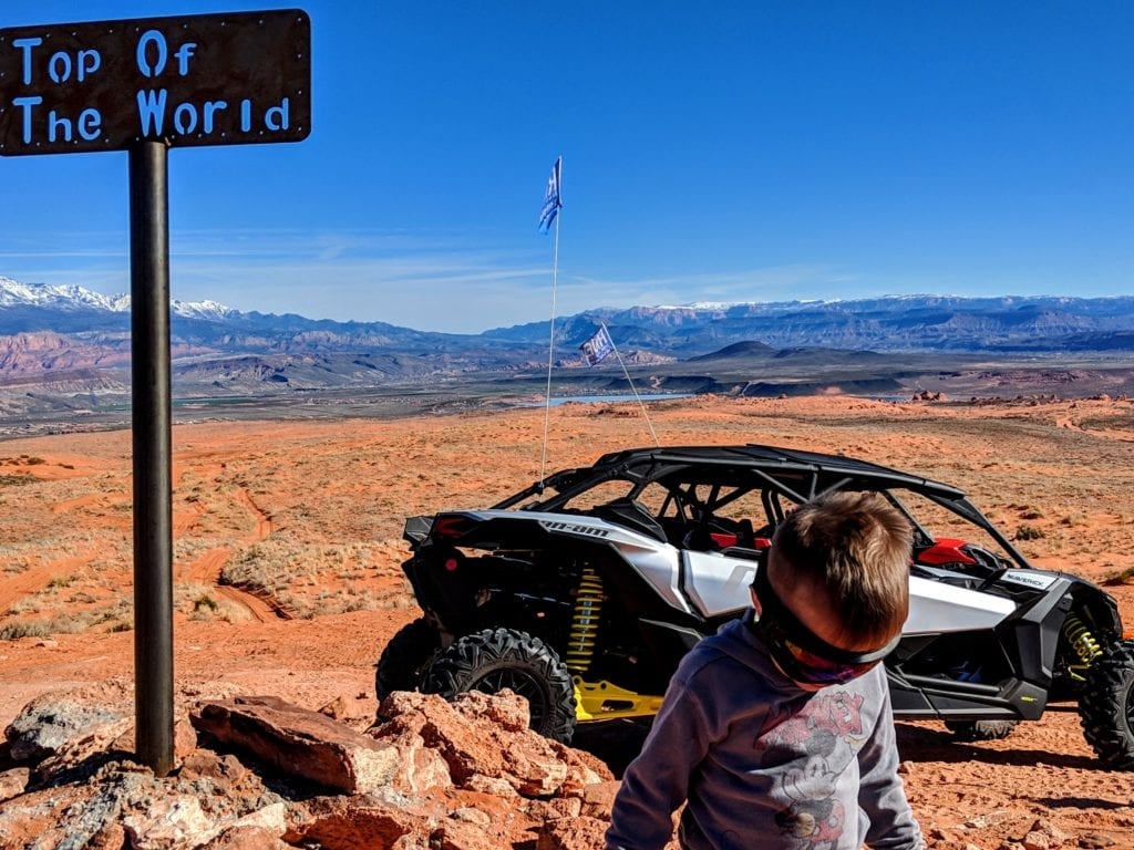 Sand Hollow State Park, Top of the World. We had a ride time taking a ridinh UTVs at Sand Hollow with our kids