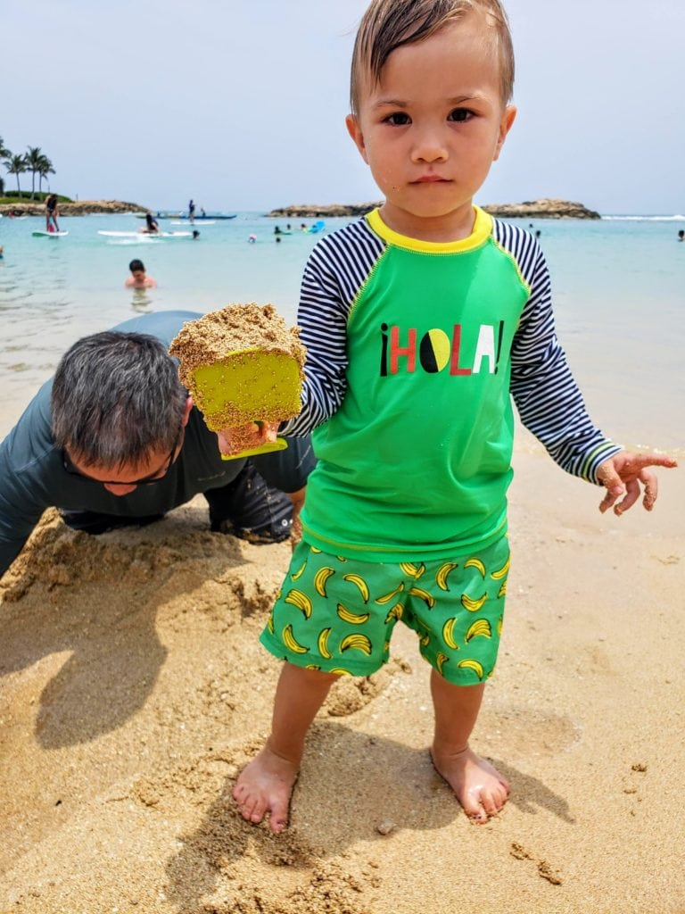 Aulani beach- toddlers