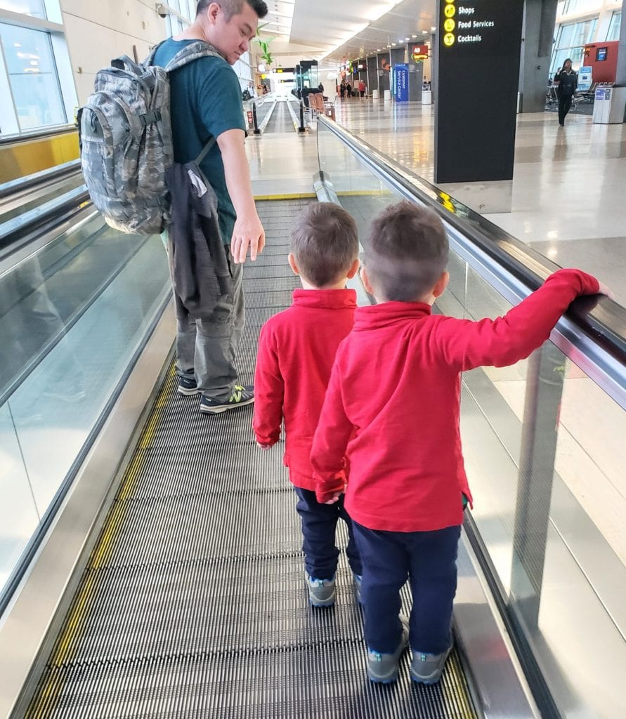 Preschoolers at the airport