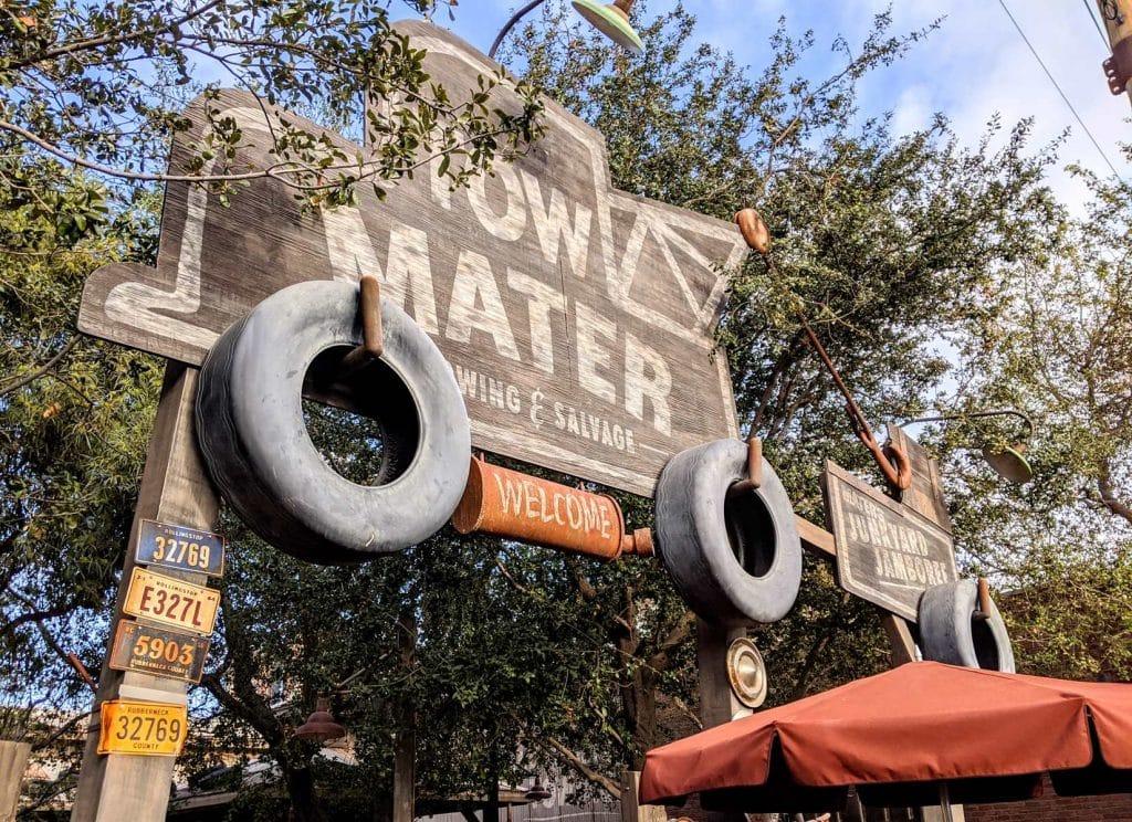 Tow Mater Junkyard Jamboree at Disneyland