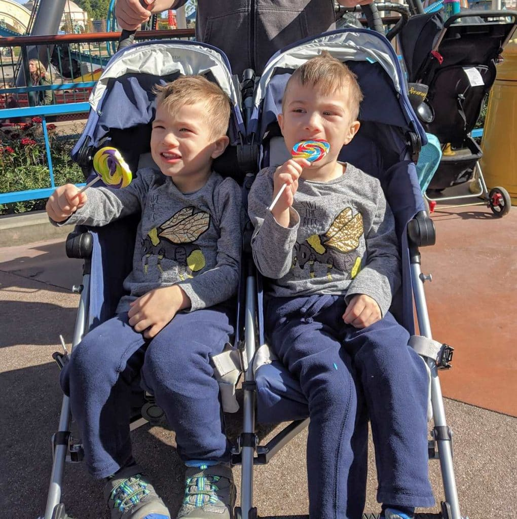 Strollers are a great idea at DIsneyland