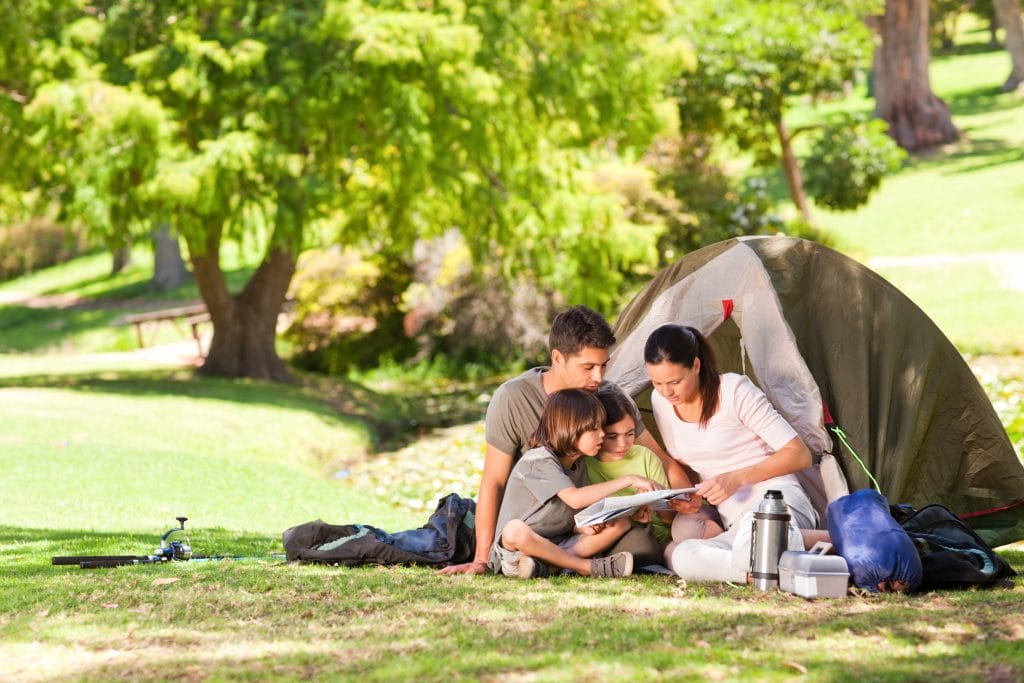 Consider camping to save on family travel costs