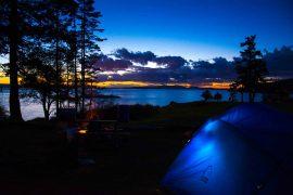Camping on San Juan Island